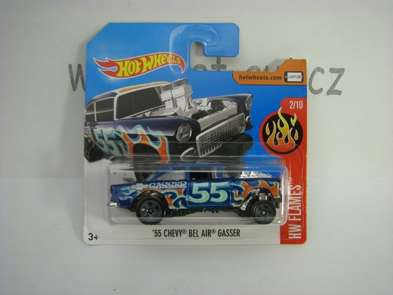 55 Chevy Bel Air Gasser Hot Wheels Flames